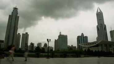 Timelapse Shanghai skyscrapers Footage
