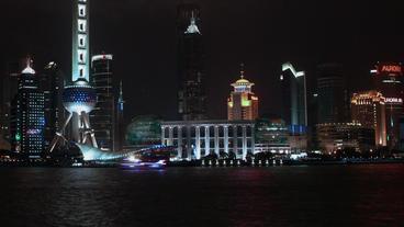Timelapse Shanghai skyline Footage