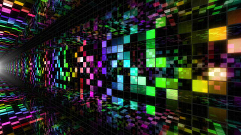 Disco Dance Tunnel A 02 4k Animation