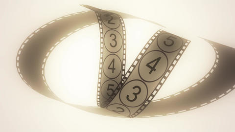 Movie Film footage with digital numbers.abstract multimedia videography Animation