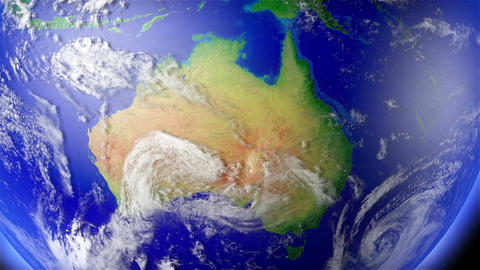 4 K Earth Zoom to Australia 1 Animation