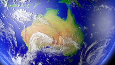 4 K Earth Zoom to Australia 1 Animation