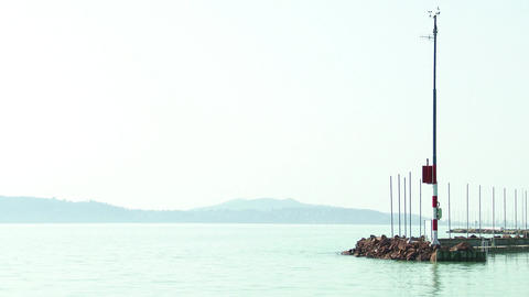 4K Balatonfured Hungary Pier 2 stock footage