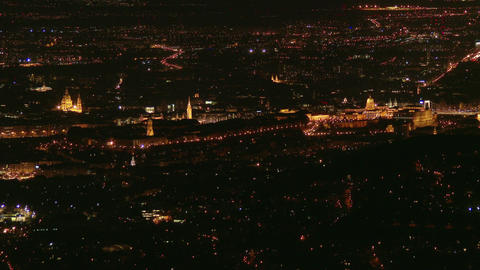 4K Budapest Hungary at Night Aerial 6 slow shutte Footage