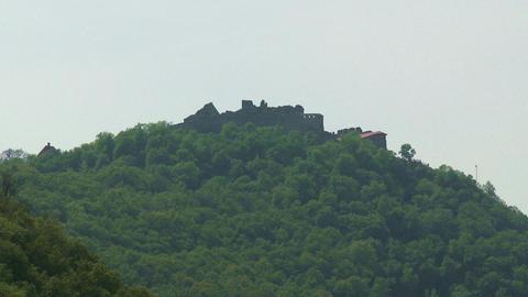 4K Castle Fort Of Visegrad Hungary 1 stock footage