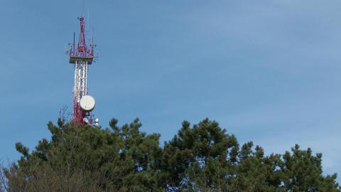 4K Communication Receiver Transmitter Tower Anten Footage