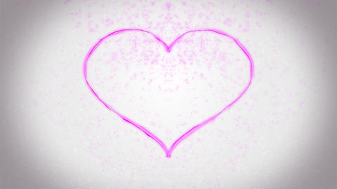 Heart background Rose CG動画素材