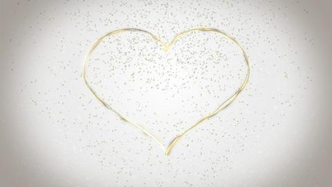 Heart background Champagne CG動画