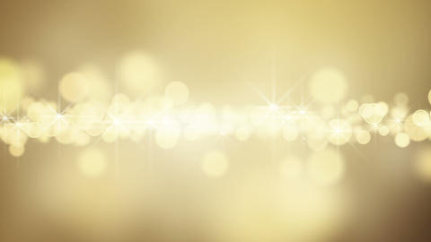 gold circle bokeh lights loop background Animation