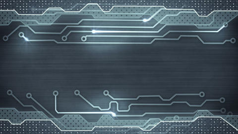 grey circuit board loopable background Animation