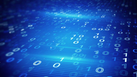 digital binary data loopable background Animation