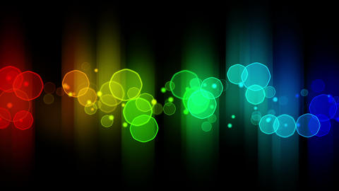 colorful glowing bokeh lights loop background Animation