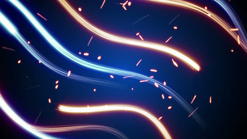 lightpainting streaks and glowing particles loop Animation