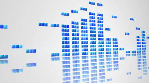 digital equalizer on white loopable background Animation