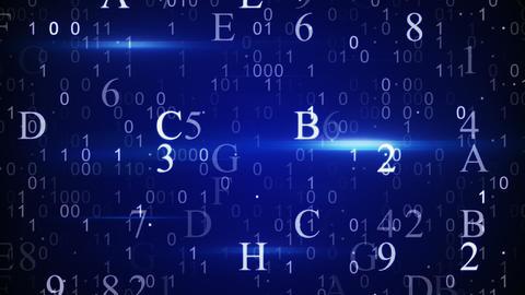 digital hexadecimal data loopable background Animation