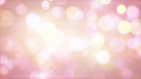 light-coloured pink yellow circle bokeh lights loo Animation