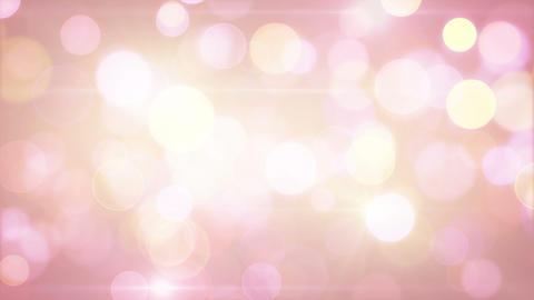 light-coloured pink yellow circle bokeh lights loo Animation