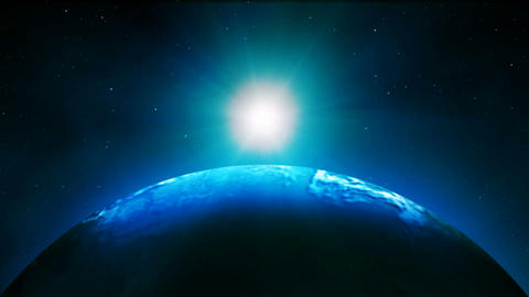 Earth with Big Sunrise HD Live Action