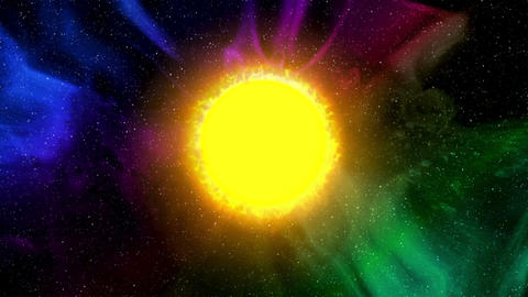 Sun In Outer Space stock footage