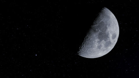 half moon w stars time lapse 11340 Footage