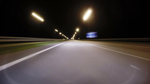 Night road Footage