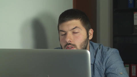 Young Business Man Receiving Bad News While Browsi Live Action