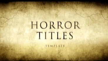 Horror Movie Titles After Effects Template