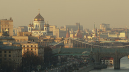 Panorama of Moscow Footage
