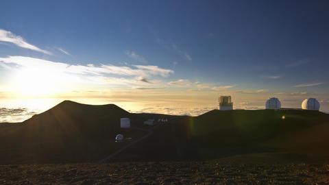 Mauna Kea Observatory Sunset, Timelapse, Big Islan Filmmaterial
