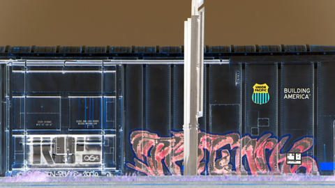 graffiti train Stock Video Footage