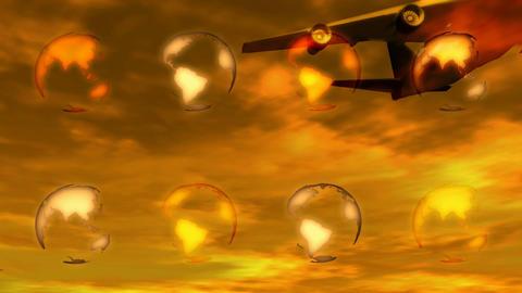 jet flyover Animation