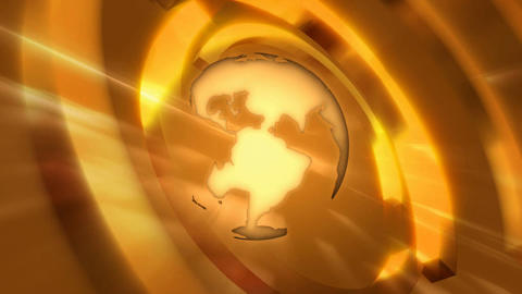 orange globe Animation
