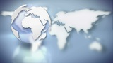 Earth Map Contrast stock footage
