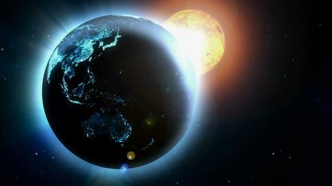 earth near sun Stock Video Footage