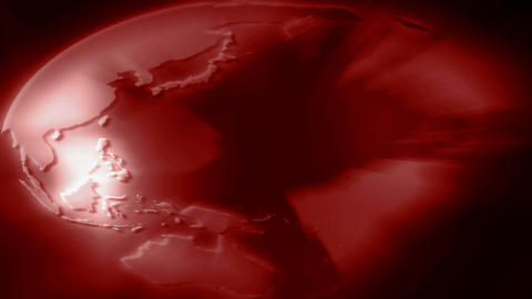 stretched red globe Stock Video Footage