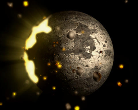 disintegrating sphere Stock Video Footage