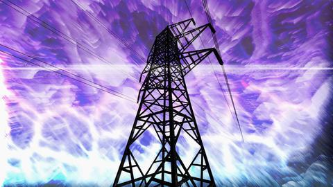 pylon overload Stock Video Footage