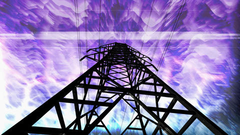 pylon overload Stock Video Footage