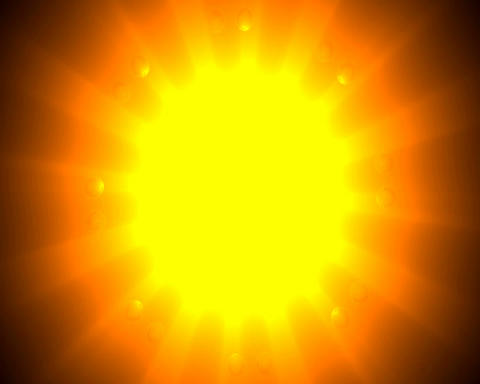 rising sun spheres Stock Video Footage