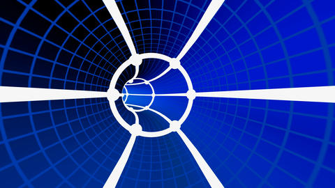 grid tunnel Animation