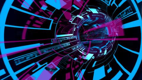 hard turns tunnel Animation