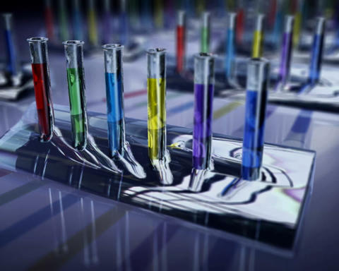 color vials Stock Video Footage
