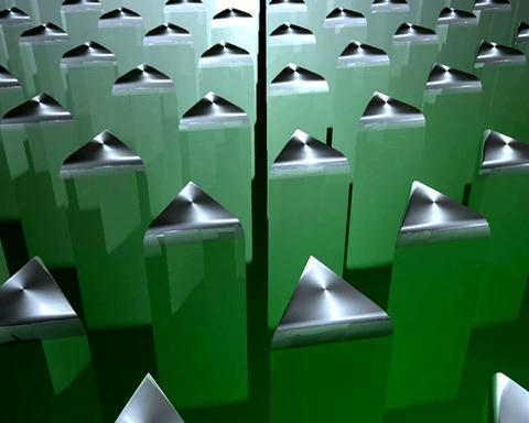 triangular extrusion Stock Video Footage