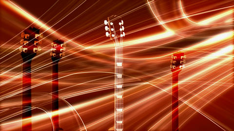 guitar necks Stock Video Footage