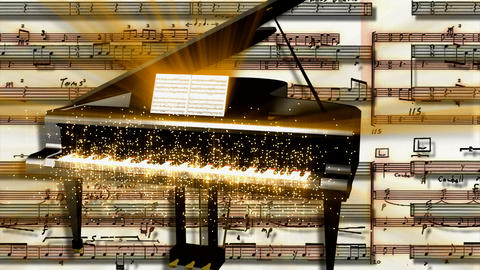 piano particles Stock Video Footage