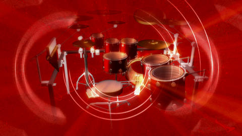 red drums Stock Video Footage
