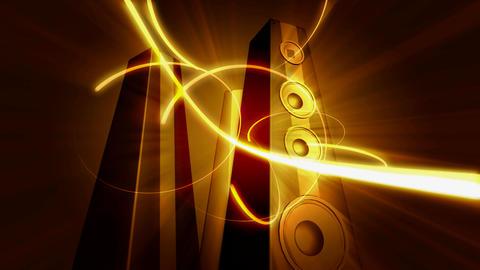 tower speakers 1 Stock Video Footage