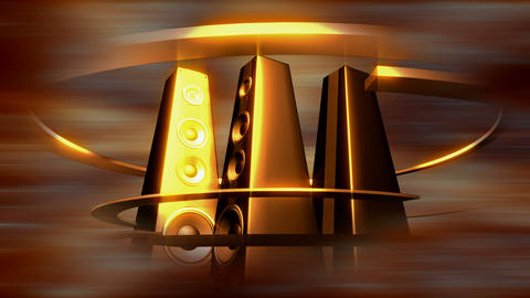 tower speakers 3 Stock Video Footage