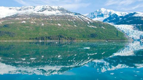 morning glacier Stock Video Footage