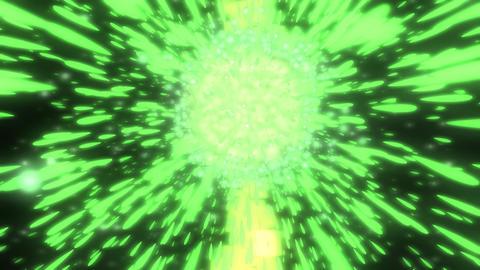 green burst Animation
